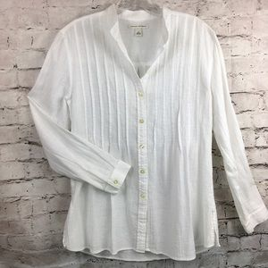 Banana Republic cotton gauze tunic small pintuck